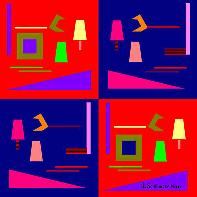 875 - Pop Piece Poster by Irmgard Schoendorf Welch