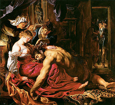 Samson And Delilah Poster by Peter Paul Rubens