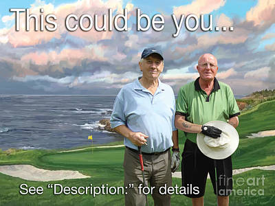 Poster featuring the painting 8th Hole Pebble Beach by Tim Gilliland