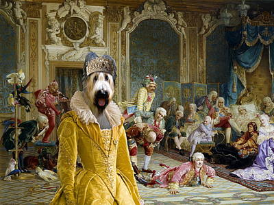 Briard - Berger De Brie Art Canvas Print Poster by Sandra Sij