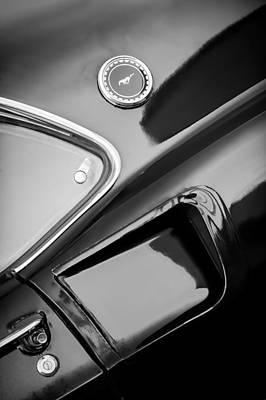 1969 Ford Mustang Mach 1 Side Emblem Poster by Jill Reger