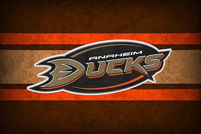 Anaheim Ducks Poster by Joe Hamilton
