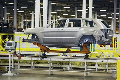 Car Production Assembly Line Poster