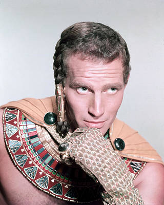 Charlton Heston In The Ten Commandments Poster by Silver Screen