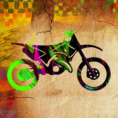 Dirt Bike Poster by Marvin Blaine