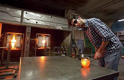 Glass Blowing Poster by Jim West