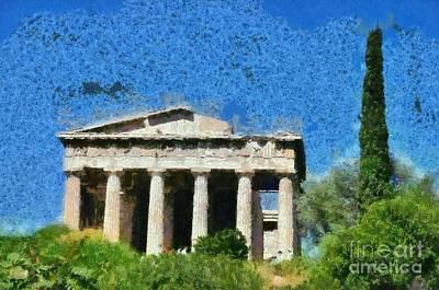 Hephaestus Temple Poster by George Atsametakis