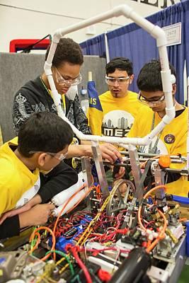 High School Robotics Competition Poster