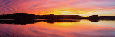 Reflection Of Clouds In A Lake Poster by Panoramic Images