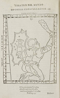 Star Constellations And Heavenly Bodies Poster by British Library