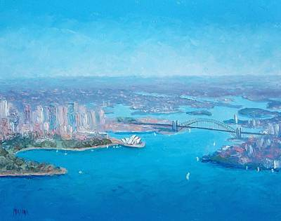 Sydney Harbour And The Opera House Aerial View  Poster