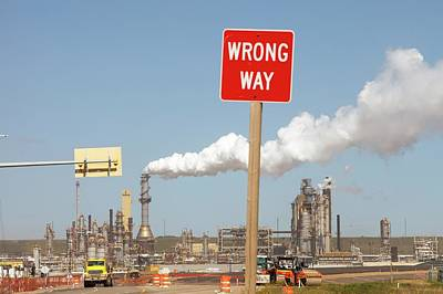 Syncrude Upgrader Plant Poster by Ashley Cooper