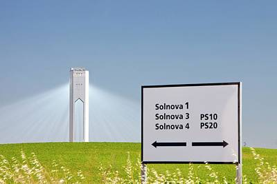 The Ps20 Solar Thermal Tower Poster by Ashley Cooper