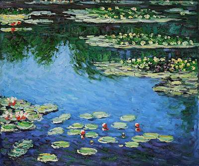Poster featuring the painting Water Lilies  by Claude Monet