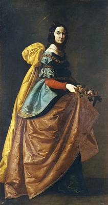 Zurbaran, Francisco De 1598-1664. Saint Poster by Everett