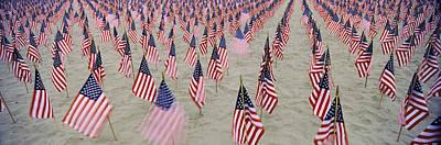 911 Tribute Flags, Pepperdine Poster