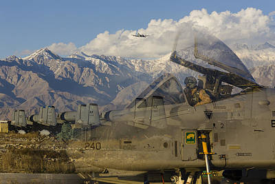 A-10s At Bagram Poster by Tim Grams