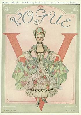 A 18th Century Style Shepherdess Poster by Frank X. Leyendecker