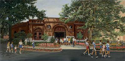 Busch Stable Exterior  Poster by Don  Langeneckert