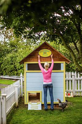A Backyard Chicken Coop In Bellingham Poster