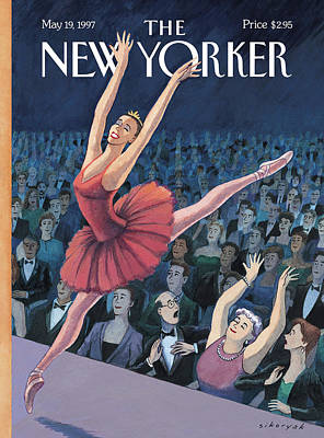 A Ballerina Performs In Front Of An Audience Poster by R. Sikorya
