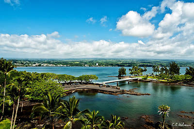 A Beautiful Day Over Hilo Bay Poster by Christopher Holmes