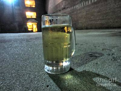 A Beer Mug In An Alley  Poster