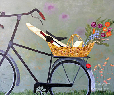 A Bicycle Break Poster by Brenda Brown