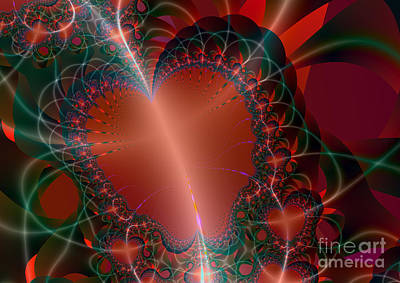 Poster featuring the digital art A Big Heart by Ester  Rogers