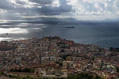A Bird's-eye View Of Naples Italy Poster by Georgia Mizuleva