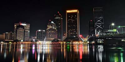 A Black Night In Jacksonville Poster by Frozen in Time Fine Art Photography