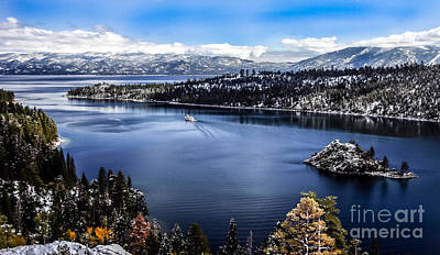 A Bluebird Day At Emerald Bay Poster