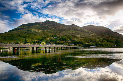Poster featuring the photograph A Bonny Day In Dornie Scotland by Trever Miller