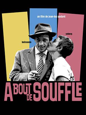 A Bout De Souffle Movie Poster Poster