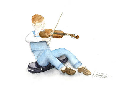 A Boy And His Violin Poster