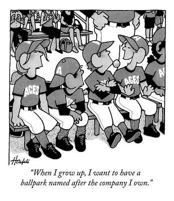 A Boy On A Little League Team Talks Poster