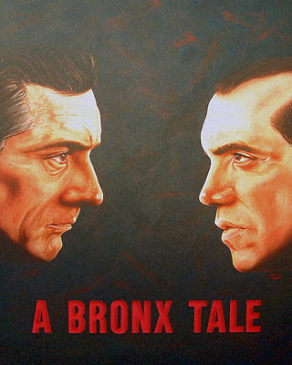 Poster featuring the painting A Bronx Tale by Dan Menta