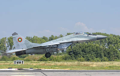 A Bulgarian Air Force Mig-29 Poster