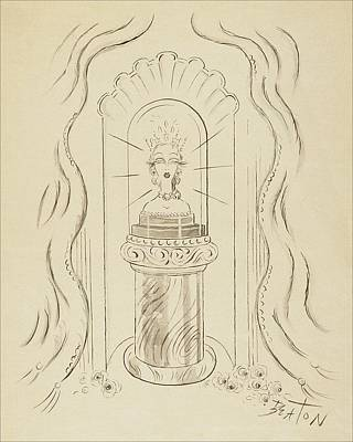 A Bust Of A Queen Poster by Cecil Beaton