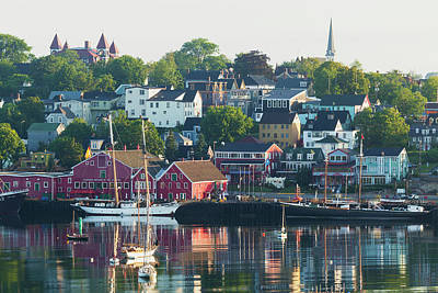 A Canadian Port Town On Mahone Bay Poster by Carl Bruemmer