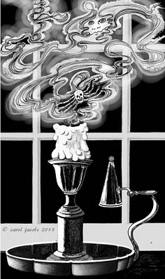 Poster featuring the digital art A Candle Snuffed by Carol Jacobs