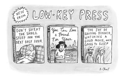A Catalog From A Publisher Called Low-key Press Poster by Roz Chast