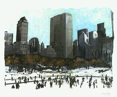 A Central Park Skate Poster by Bonnie Sprung