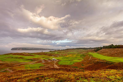 A Chambers Bay Morning Poster by Ken Stanback