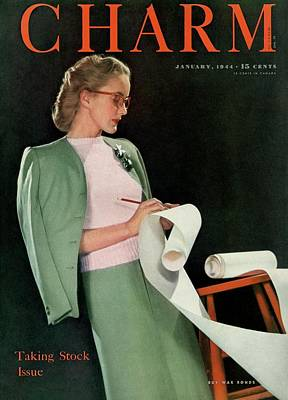 A Charm Cover Of A Model Holding Paper Poster