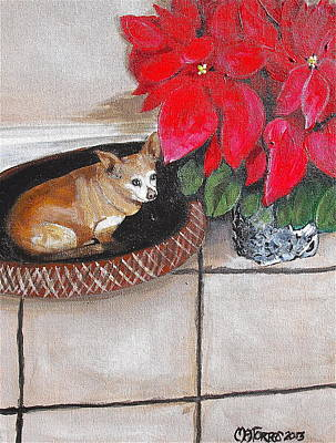 A Chihuahua Christmas Poster by Melissa Torres