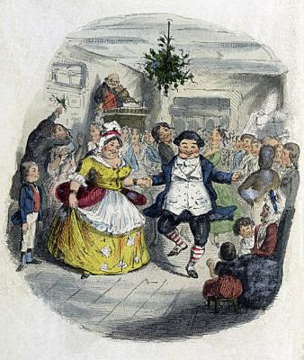 A Christmas Carol, Mr. Fezziwigs Ball Poster by British Library