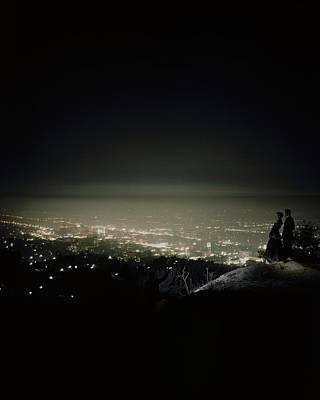 A City At Night Poster