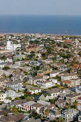 A Clear Day On Galveston Island Poster by Barbara Rabek
