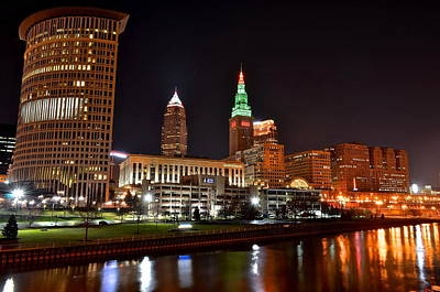 A Cleveland Night Poster by Frozen in Time Fine Art Photography